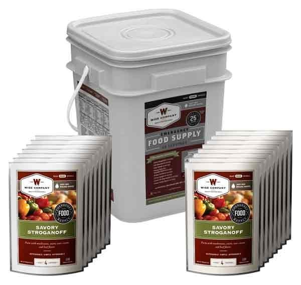 Wise Food Supply Entree Only Kit 60 Serving Black Bucket