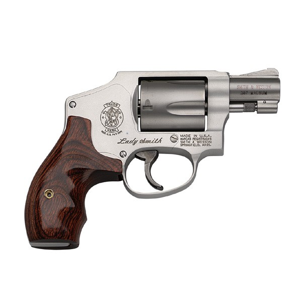 "Smith & Wesson 642Ls .38SPL+P 1.875"" FS Ss Wood Finger Groove"