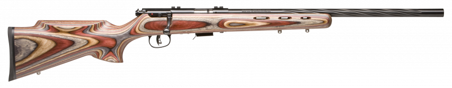 "Savage 93 BRJ Laminate Blue Fluted 21"" Barrel 22 Mag"