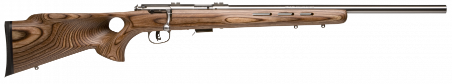 "Savage 93R17 BTVS Laminate T-Hole Stainless 21"" Barrel 17 HMR"