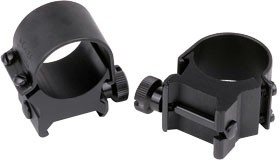 "Weaver Detachable Top Mount Standard Rings 1"" Low Matte"