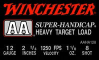 "Winchester Ammunition Ammo Aa Target 12GA. 2.75"" 1250FPS. 1-1/8Oz. #8 25-Pack"