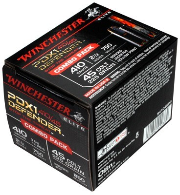 Winchester Ammunition Ammo Supreme Elite 20-Pack .410/.45LC Combo Pdx1 Defender