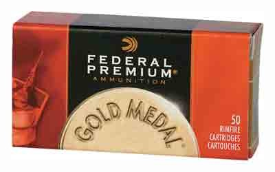 Federal Cartridge Ammo Gold Medal .22LR Ultra Match 40Gr. Lead-RN 50Pk