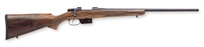 "CZ 527 American .221 Fireball W/1"" Scope Rings Walnut Stk"