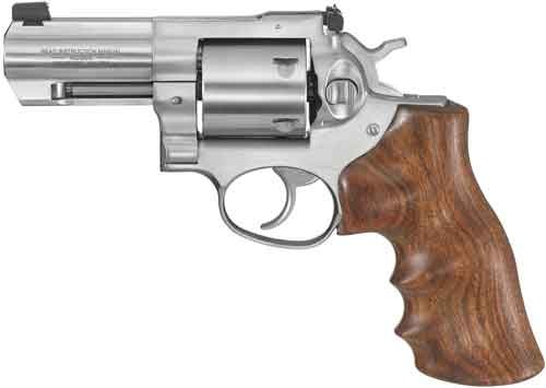 "Ruger Gp100 .44spl 3"" Adj. Stainless Walnut Grip"