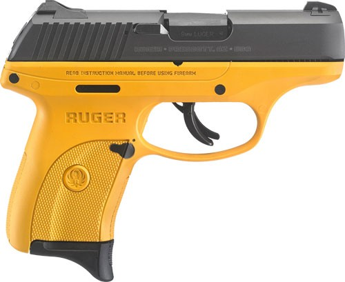 "Ruger LC9S 3.12"" Barrel As 7-Shot Contractor Yellow Cerokte Frame 9mm"