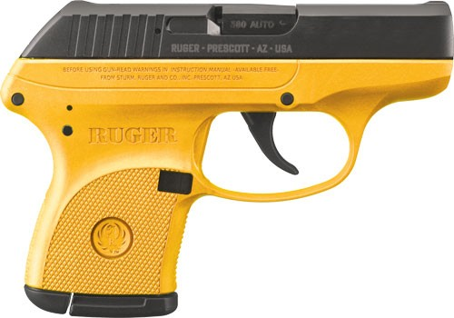 Ruger LCP .380acp 6-shot Fs Contractor Yellow Frm (talo)