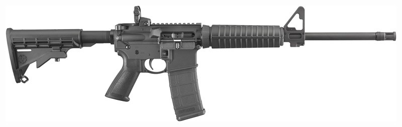 Ruger AR556 .223 30-Shot Black Six Position Stock