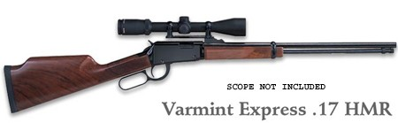 "Henry Lever Action Varmint Express 20"" Barrel 17 HMR"
