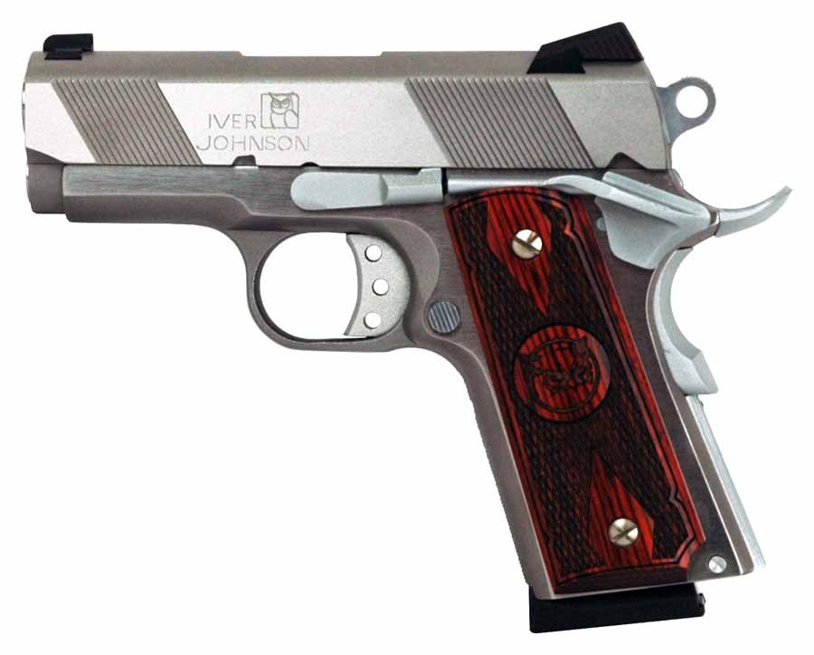 "Iver Johnson Arms 1911 Thrasher Ss .45ACP 3.12"" FS 7Rd Stainless"