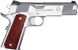 "Springfield 1911-A1 Loaded Full Size Stainless  5"" Barrel 45 Acp"