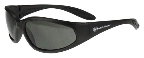 Smith & Wesson Performance 12-Pack Shoot Glasses Black Frame Smoke Lens