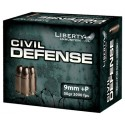 Liberty Ammo Ammo Civil Defense 9MM Luger 50Gr. HP 20-Pack