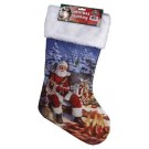 Rivers Edge Santa W/wildlife Stocking-20""