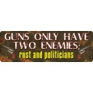 Rivers Edge Lg Tin Sign Guns 2 Enemies