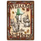"Rivers Edge Nut House Tin Sign 12""x17"""