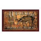 "Rivers Edge Door Mat 18""x30"" Welcome Deer"