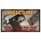 "Rivers Edge Door Mat 18""x30"" Door Locked Your Protection"