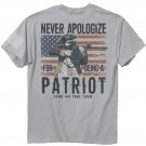 "Buck Wear T-shirt ""never Apologize"" S-sleeve Silver Med"