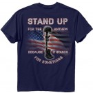 "Buck Wear T-shirt ""stand Up"" S-sleeve Navy Large"