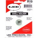 Lee R19 Universal shell holder used in most brands of reloading presses. For the 9mm Luger, 38 ACP, 40S&W and similar cases