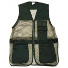 Allen Winchester Trap Shooting Vest Blk/tan Mesh Body Xl-XX