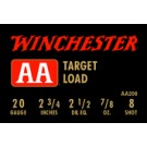 "Winchester Ammunition Ammo Aa Target 20GA. 2.75"" 1200FPS. 7/8Oz. #8 25-Pack"