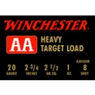 "Winchester Ammunition Ammo Aa Target 20GA. 2.75"" 1165FPS. 1Oz. #8 25-Pack"