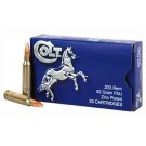 Colt Ammo .223 Remington 62gr. Fmj Zinc Plated 20-pack