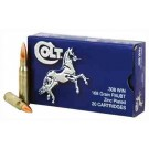 Colt Ammo .308 Winchester 168gr. Fmj Zinc Plated 20-pack