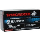 Winchester Ammo Ranger .38 Special +p 130gr. Pdx1 Jhp 50-pack