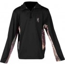 Bg Youth's L.sleeve Pullover 1/4 Zip Large Black/camo