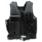 Drago Fast Draw Tac Vest Black 3 Pistol And 3 M4 Mag Pouches