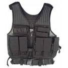 Drago First Strike Tac Vest Bl Quick Access 7 Mag Pouches