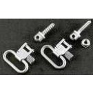 """Uncle Mikes Swivel Set 1"""" For Standard Rifles Silver"""