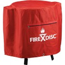 "Firedisc Cookers 24""pvc Firemn Red Weatherproof Cover W/logo"