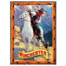 Rockin'w Brand Winchester Cowboy And Bear Sign