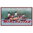 "Rockin'w Brand Winchester ""do You Shoot?"" Mat 30""x17.7"""