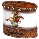 Rockin'w Brand Winchester Horse & Rider Toothbrush Cup