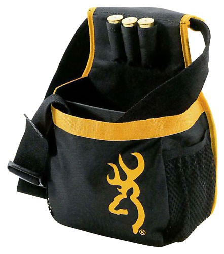 Browning Buck Mark Shell Pouch W/Box Black/Gold Long