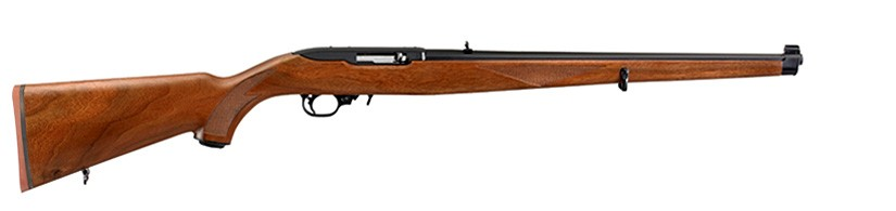 Ruger 10/22 Mannlicher Stock Blued Walnut (Talo)