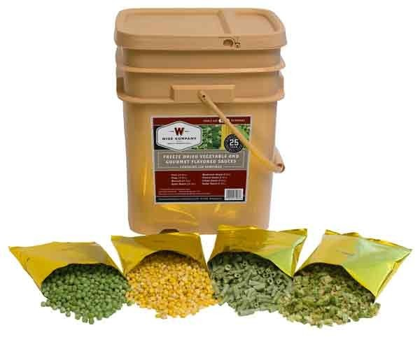 Wise Food Supply Vegetables & Sauces 120 Serving Bucket