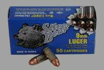 Silver Bear 9MM Luger 115Gr. FMJ-RN Zinc Plated Case 50-Pk