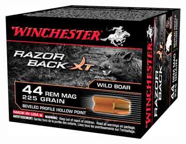 Winchester Ammunition Ammo Razorback Xt .44 Mag 225Gr. JHP 20-Pack
