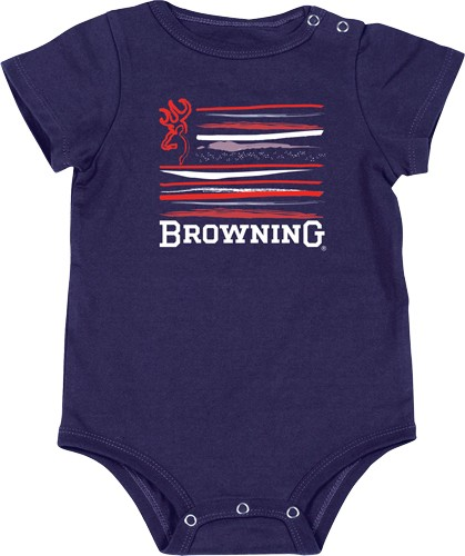 Bg Baby's Chipmunk Body Suit 12-month Navy Blue W/logo<
