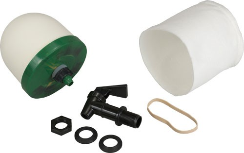 """Personal Security Products Water Filter Kit 4"""" Filter Sock, Spigot & Instructions"""