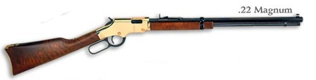 Henry Goldenboy Lever Rifle .22WMR Walnut