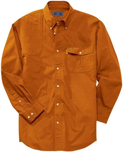 Beretta Shooting Shirt Large Long Sleeve Cotton Orange