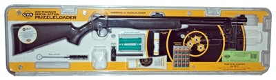 """CVA Wolf Rifle .50 Value Pack 24"""" Blued/Black Synthetic"""